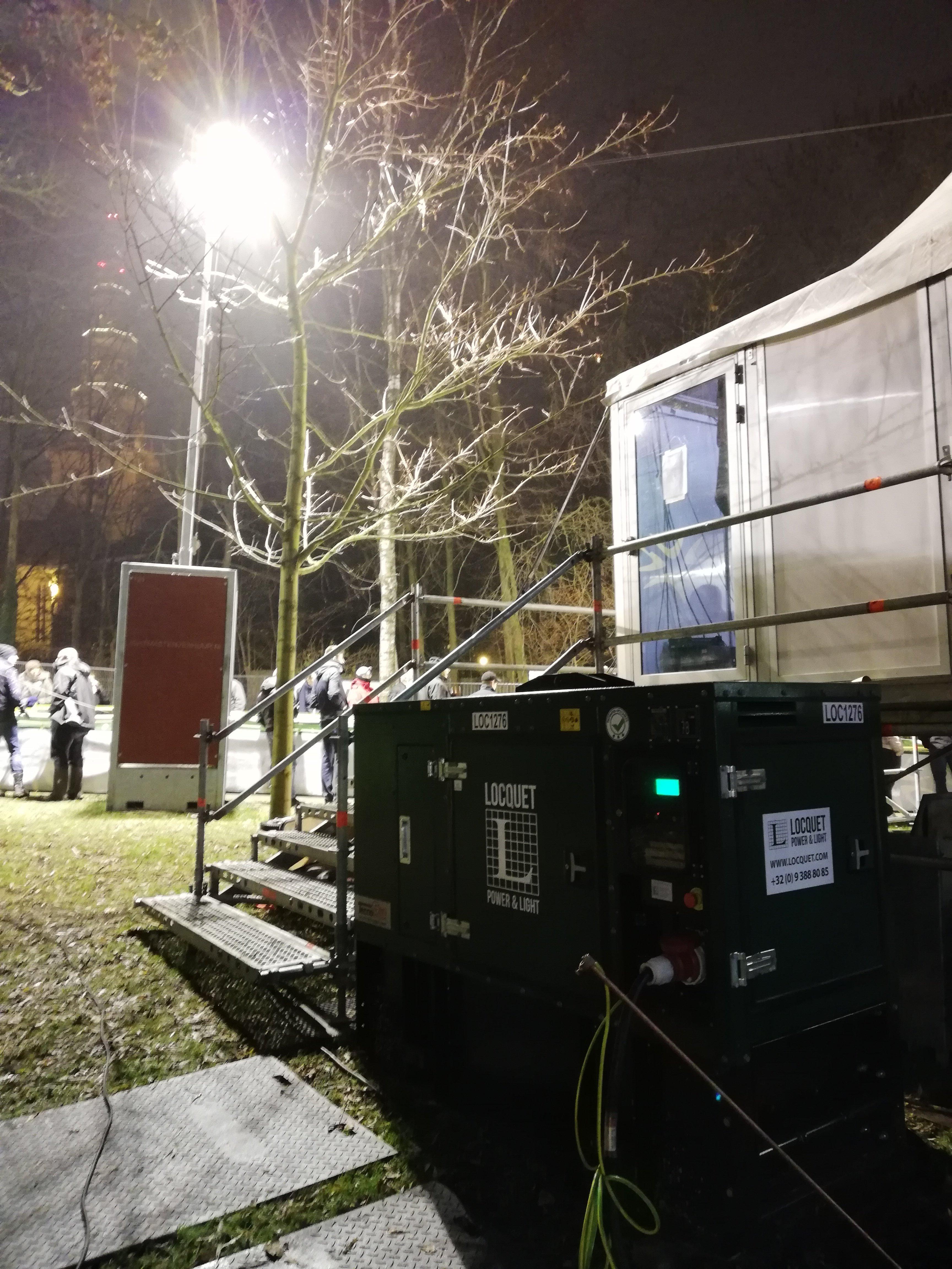 Superprestige Diegem 2018 - stroomgroep 30 kVA super silent Fusteq & POPA lichtmast.jpg